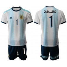 2019-20 Argentina 1 CABALLERO Home Soccer Jersey