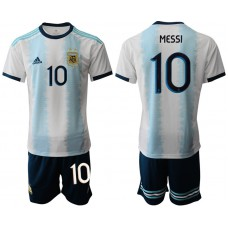2019-20 Argentina 10 MESSI Home Soccer Jersey