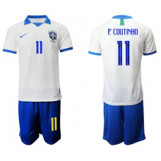 2019-20 Brazil 11 P. COUTINHO White Special Edition Soccer Jersey