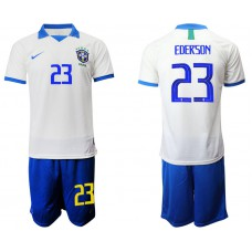 2019-20 Brazil 23 EDERSON White Special Edition Soccer Jersey