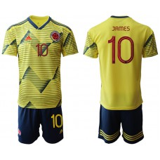 2019-20 Colombia 10 JAMEZ Home Soccer Jersey