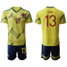 2019-20 Colombia 13 MINA Home Soccer Jersey