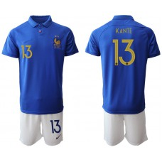 2019-20 France 13 KANTE 100th Commemorative Edition Soccer Jersey