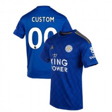 2019-20 Leicester City #00 Custom Blue Home Authentic Jersey