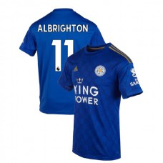 2019-20 Leicester City #11 Marc Albrighton Blue Home Authentic Jersey