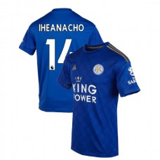 2019-20 Leicester City #14 Kelechi Iheanacho Blue Home Authentic Jersey