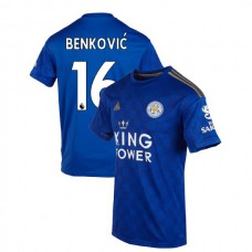 2019-20 Leicester City #16 Filip Benkovic Blue Home Authentic Jersey