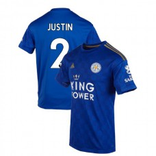 2019-20 Leicester City #2 James Justin Blue Home Authentic Jersey