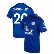 2019-20 Leicester City #20 Hamza Choudhury Blue Home Authentic Jersey
