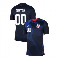 USA 2020 #00 Custom Away Navy Authentic Jersey