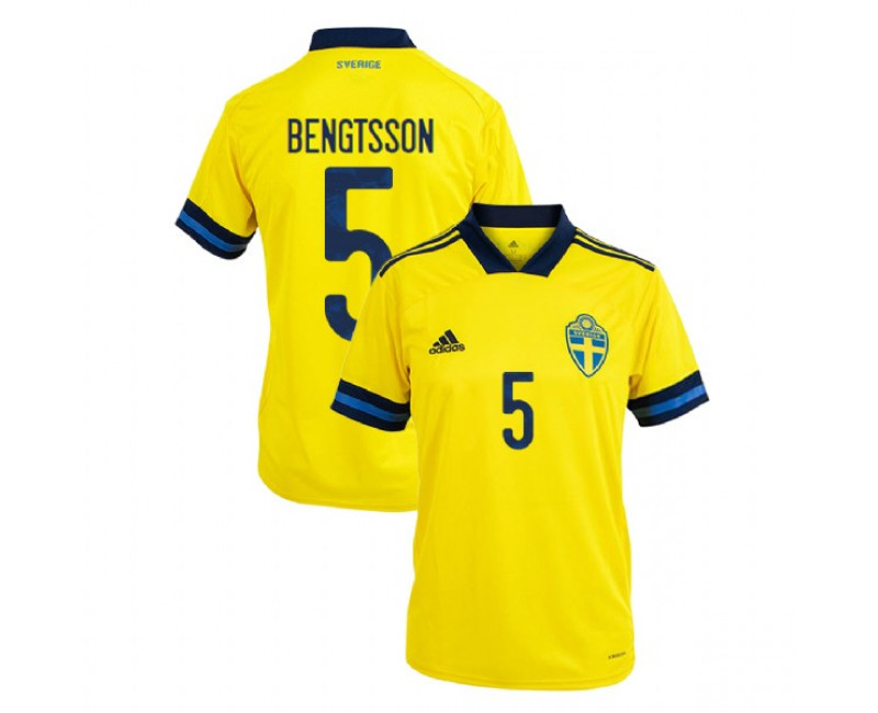 Sweden Pierre Bengtsson Yellow #5 Home UEFA Euro 2020 Replica Jersey