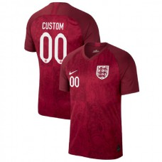 England FIFA 2019 World Cup Red #00 Custom Authentic Jersey