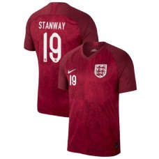 England FIFA 2019 World Cup Red #19 Georgia Stanway Authentic Jersey