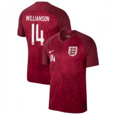 England FIFA 2019 World Cup Red #14 Leah Williamson Authentic Jersey