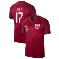 England FIFA 2019 World Cup Red #17 Rachel Daly Authentic Jersey