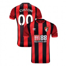 2019/20 AFC Bournemouth #00 Custom Red Black Home Authentic Jersey