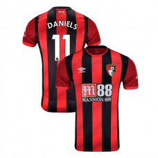 2019/20 AFC Bournemouth #11 Charlie Daniels Red Black Home Authentic Jersey