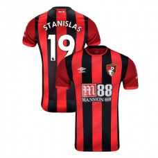2019/20 AFC Bournemouth #19 Junior Stanislas Red Black Home Authentic Jersey