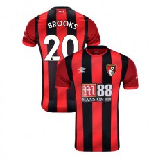 2019/20 AFC Bournemouth #20 David Brooks Red Black Home Authentic Jersey