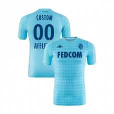 2019/20 As Monaco Stadium #00 Custom Sky Blue Third Authentic Jersey