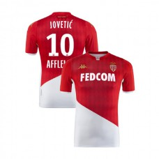 2019/20 As Monaco Stadium #10 Stevan Jovetic Red White Home Authentic Jersey