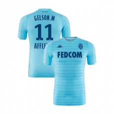 2019/20 As Monaco Stadium #11 Gelson Martins Sky Blue Third Authentic Jersey