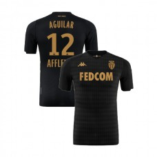 2019/20 As Monaco Stadium #12 Ruben Aguilar Black Away Replica Jersey