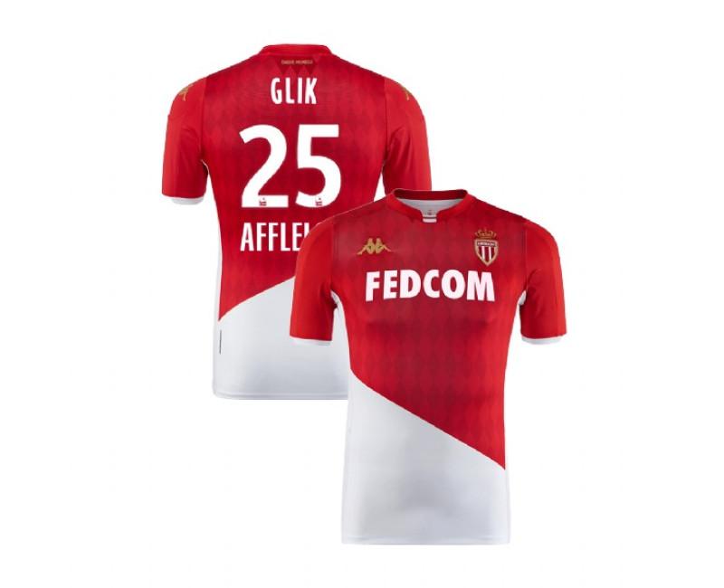 2019/20 As Monaco Stadium #25 Kamil Glik Red White Home Replica Jersey