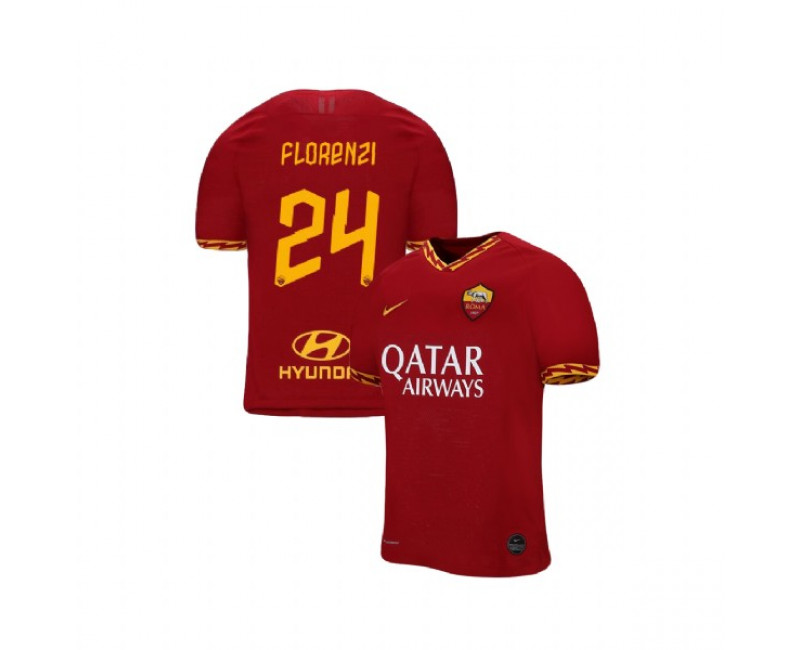 2019/20 AS Roma #24 Alessandro Florenzi Red Home Authentic Jersey