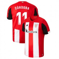2019/20 Athletic Bilbao #11 Inigo Cordoba Red White Home Authentic Jersey