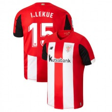 2019/20 Athletic Bilbao #15 Inigo Lekue Red White Home Authentic Jersey