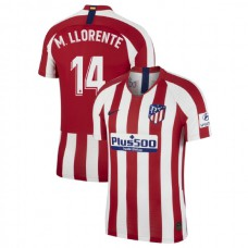 2019/20 Atletico Madrid Stadium #14 Marcos Llorente Red Home Authentic Jersey