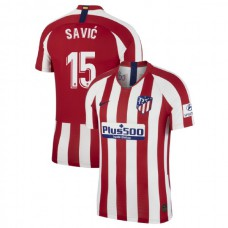 2019/20 Atletico Madrid Stadium #15 Stefan Savic Red Home Authentic Jersey
