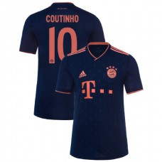 2019/20 Bayern Munich Champions League #10 Philippe Coutinho Navy Third Authentic Jersey