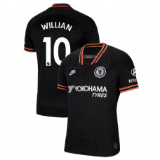 2019/20 Chelsea #10 Willian Black Third Authentic Jersey