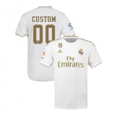 2019/20 Real Madrid #00 Custom White Home Authentic Jersey
