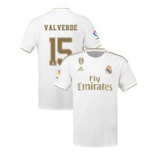 2019/20 Real Madrid #15 Fede Valverde White Home Authentic Jersey