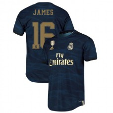 2019/20 Real Madrid #16 James Rodriguez Navy Away Authentic Jersey