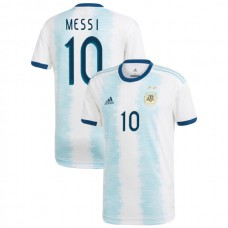 2019 Argentina Authentic #10 Lionel Messi White Home Authentic Jersey