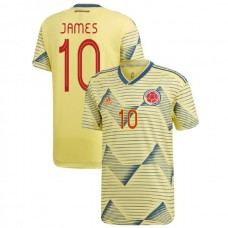 2019 Colombia Authentic #10 James Rodriguez Yellow Home Authentic Jersey