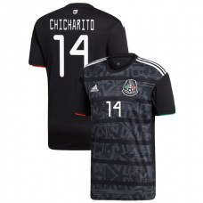 2019 Mexico #14 Javier Hernandez Black Home Authentic Jersey