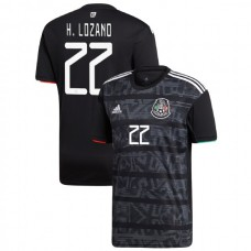2019 Mexico #22 Hirving Lozano Black Home Authentic Jersey