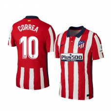 Youth Angel Correa Atletico de Madrid Authentic Jersey Home 2020/21 Short Sleeve