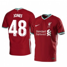 Youth Curtis Jones Liverpool Home Authentic Jersey 2020/21 Short Sleeve