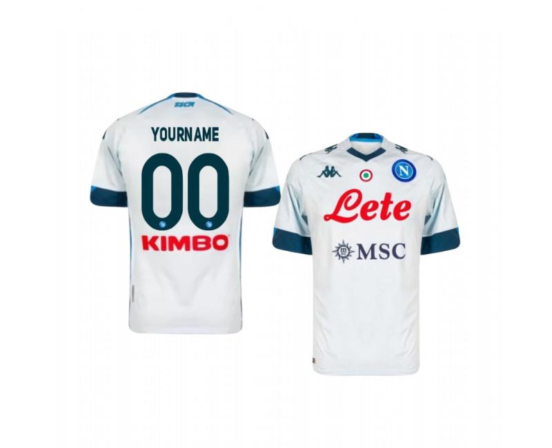 Custom SSC Napoli Authentic Jersey 2020/21 Away Short Sleeve