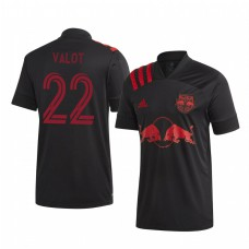 Youth Florian Valot Short Sleeve Authentic Jersey New York Red Bulls Away 2020/21
