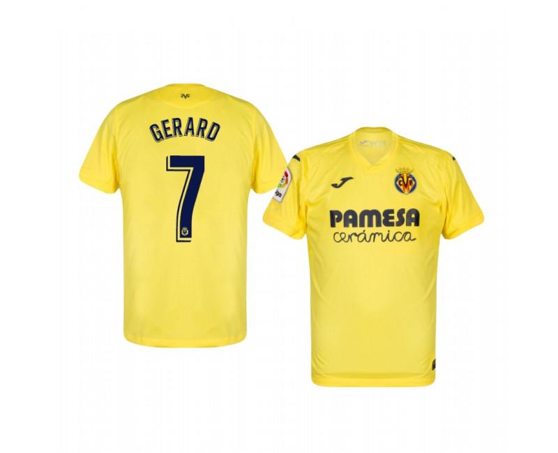 Gerard Moreno Villarreal 2020/21 Home Yellow Short Sleeve ...