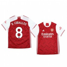Youth 2020/21 Arsenal Dani Ceballos Authentic Jersey 2020/21 Home Official