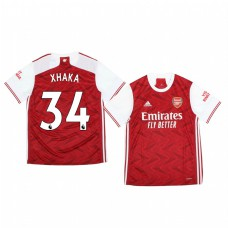 Youth 2020/21 Arsenal Granit Xhaka Authentic Jersey 2020/21 Home Official