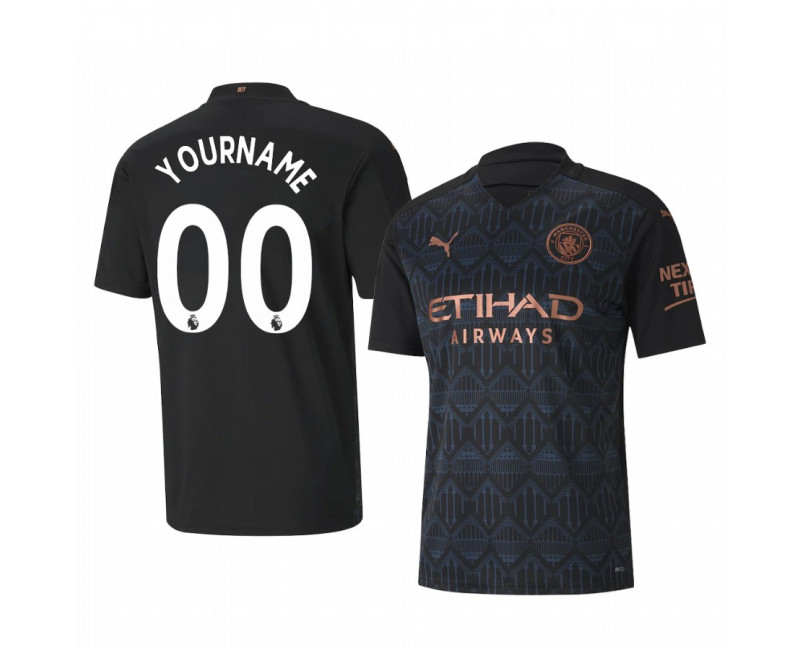Custom Manchester City Authentic Jersey Away 2020/21 Replica